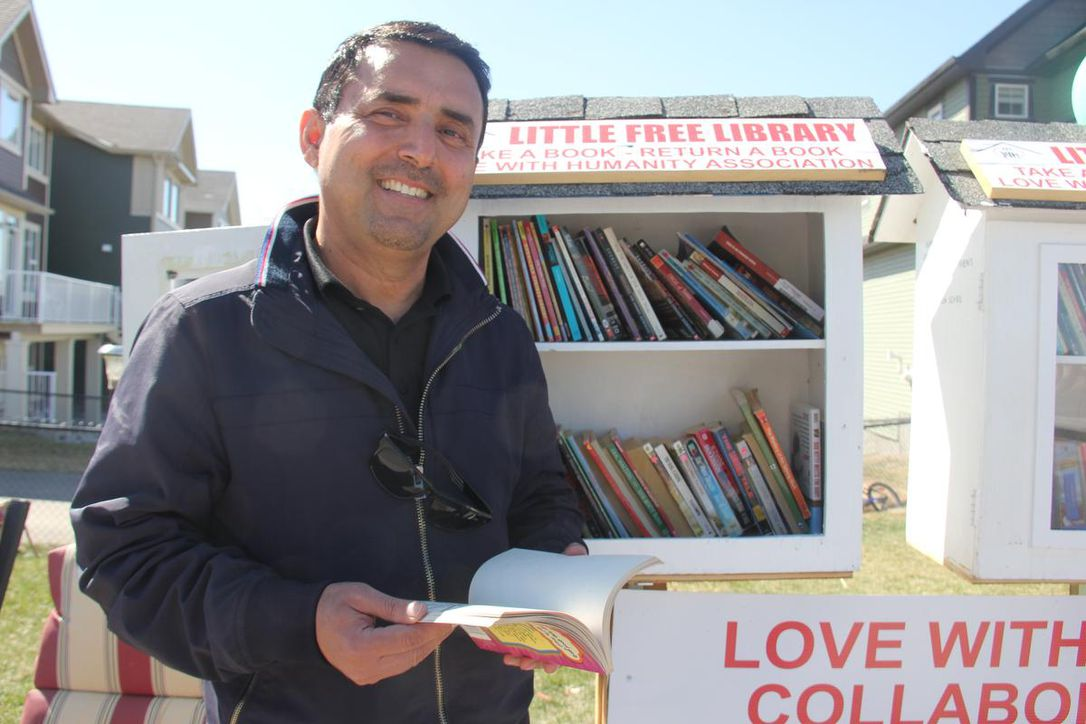 Why this Calgary man made his front lawn into a community library