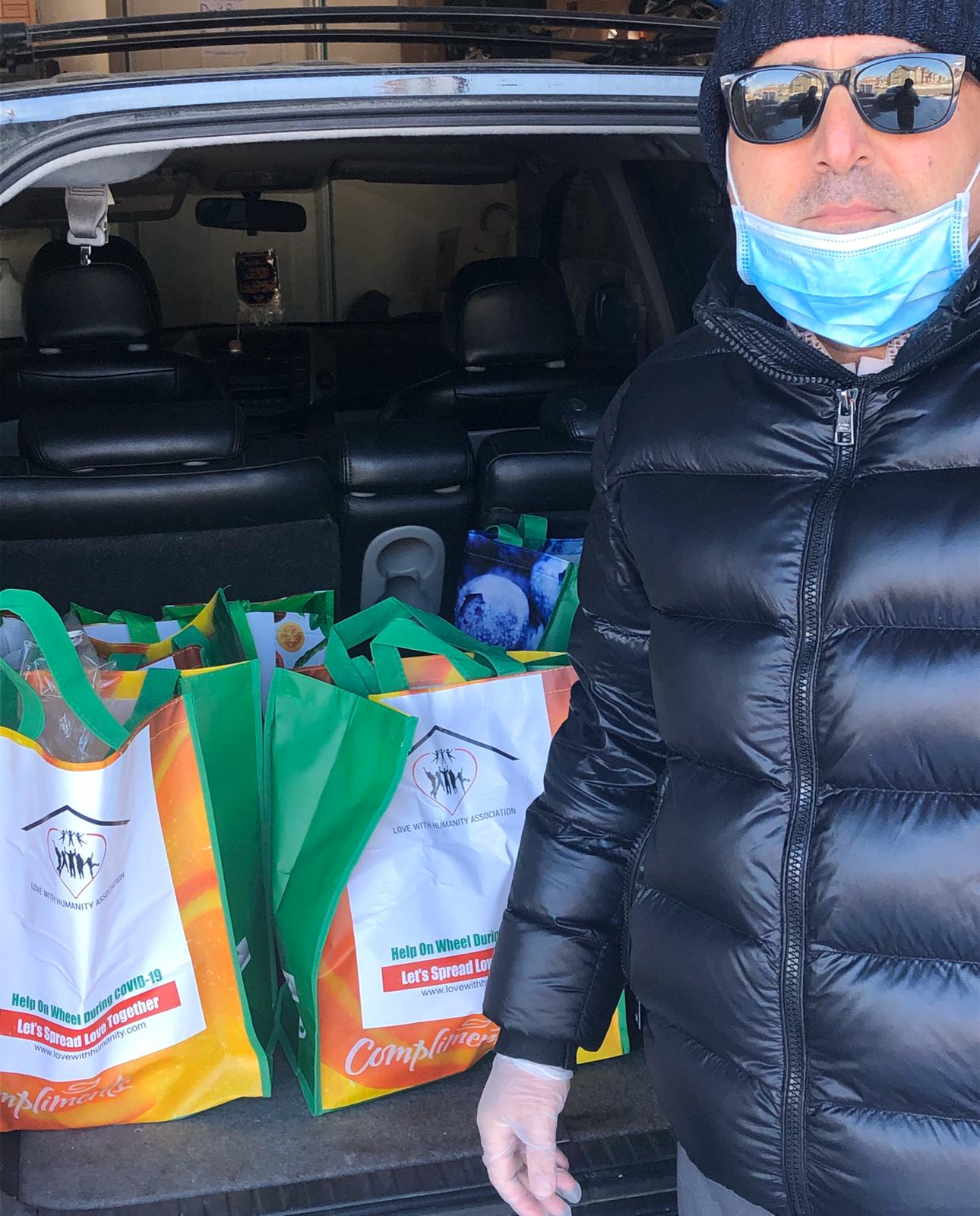 Calgary man provides doorstep delivery of care hampers